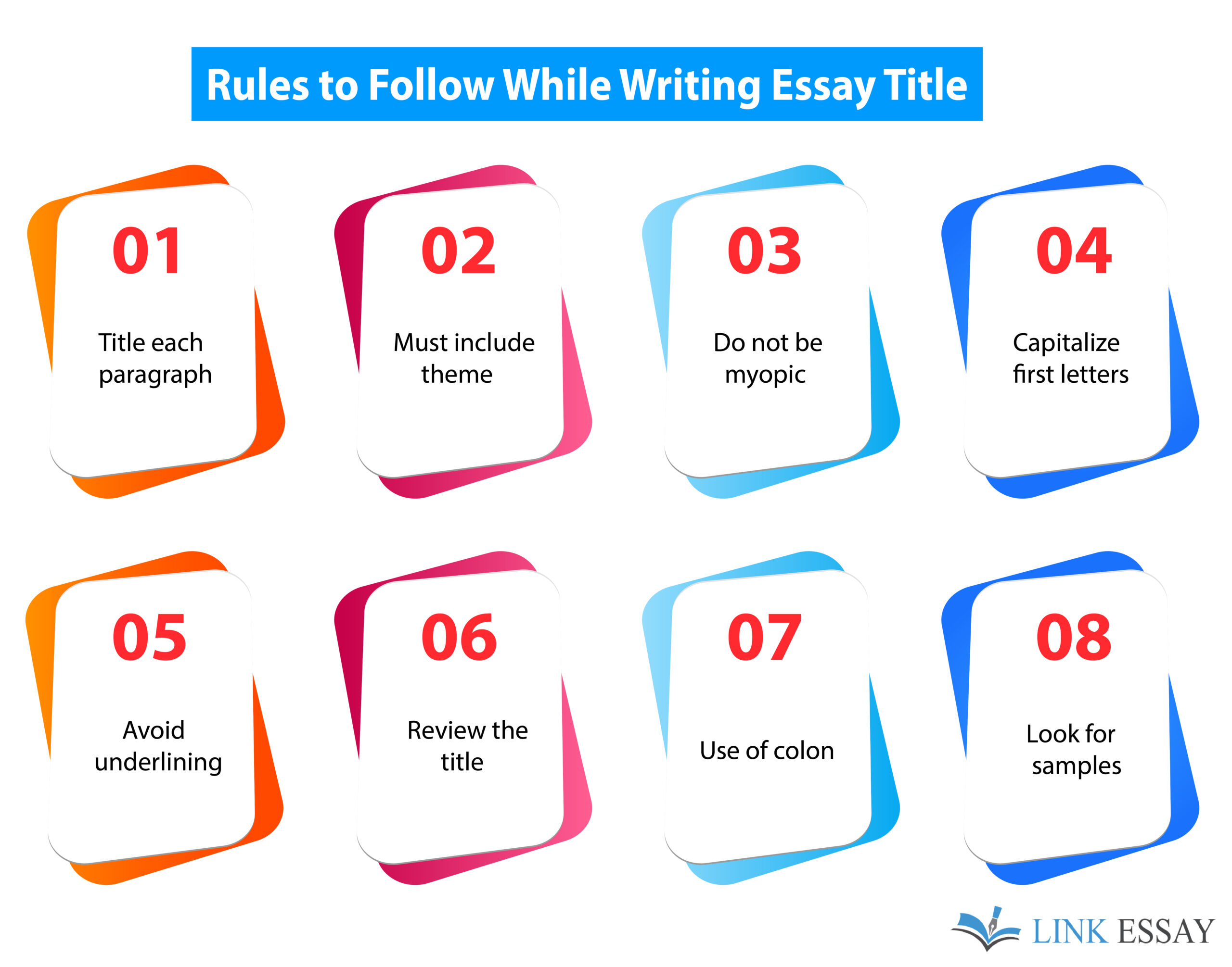 Rules to Follow While Title an Essay